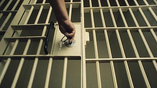 Key in Jail Cell Door