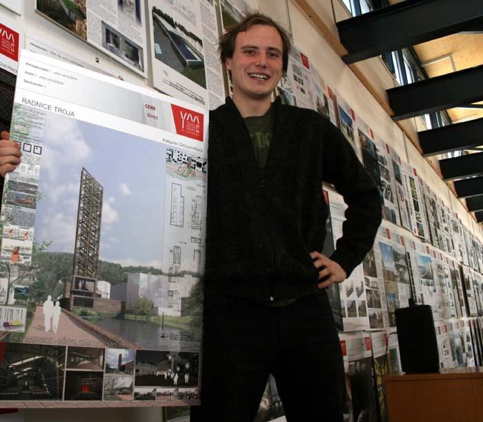 Návrh Jana Veissera Radnice Praha – Troja, který získal ocenění za 3D model návrhu na Young Architect Award 2011