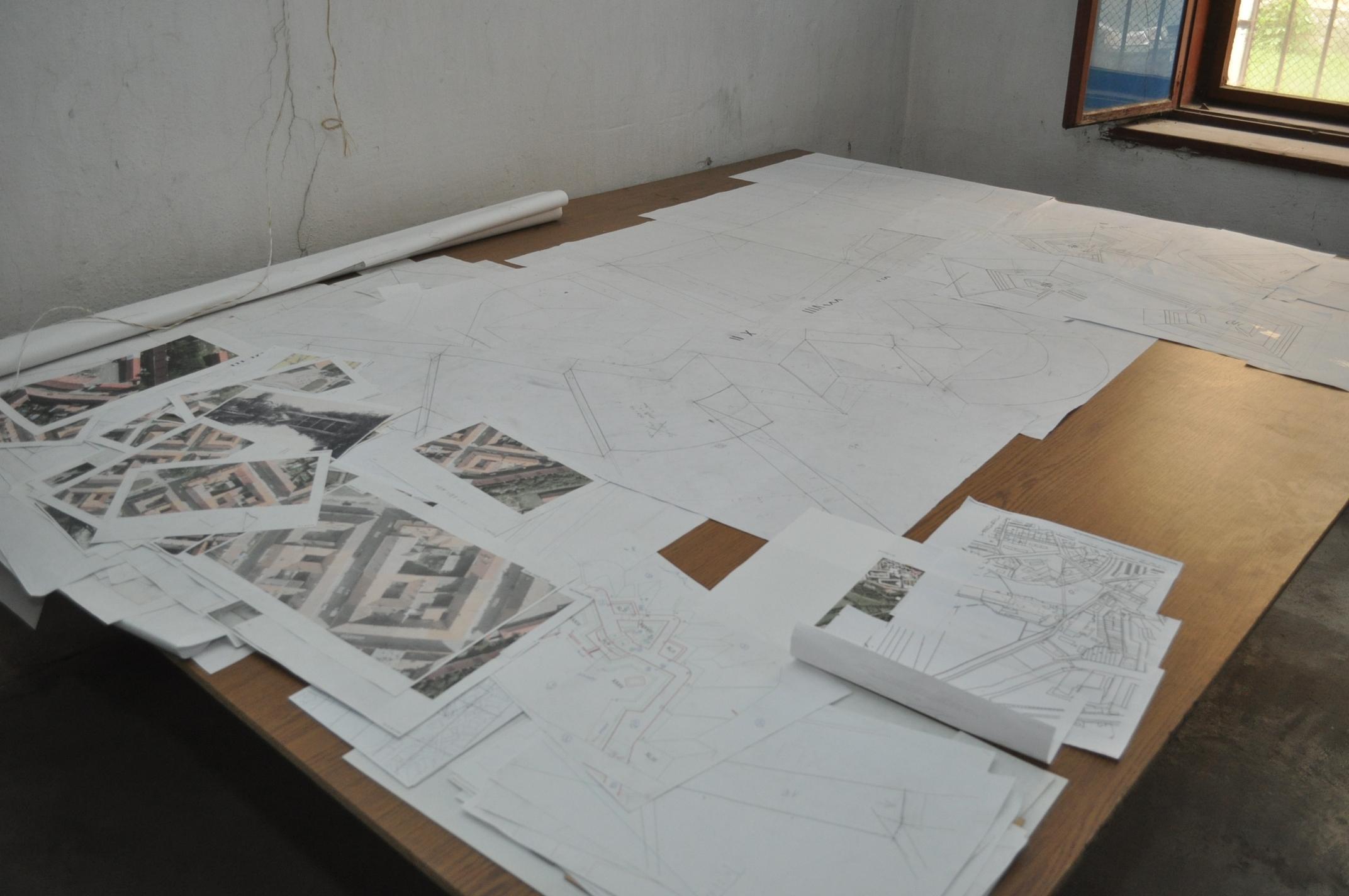 Detailní plány, podle kterých vznikal model Josefova