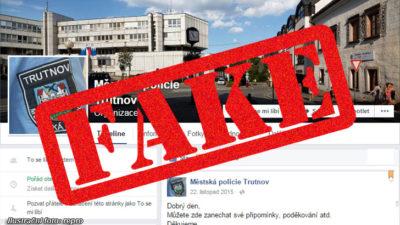 Trutnovský profil MP na Facebooku je falešný, ten v Jaroměři je  pravý