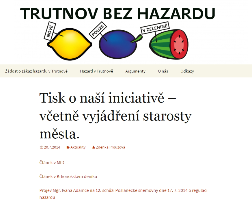 Trutnov bez hazardu-vaclav-havel