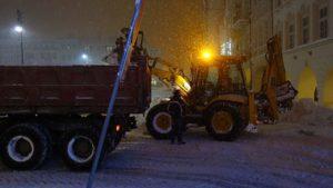 Odklízení sněhu Bulharská ulice Trutnov