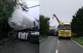 Cisterna zcela zablokovala silnici mezi Dvorem Králové a Kocbeřemi na 4 hodiny