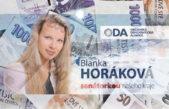 "ODA prý ""odkopla"" svou trutnovskou kandidátku Horákovou"