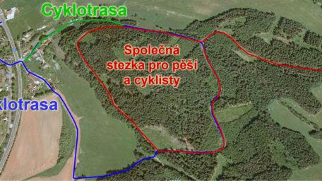 Nová cyklostezka na Bojišti