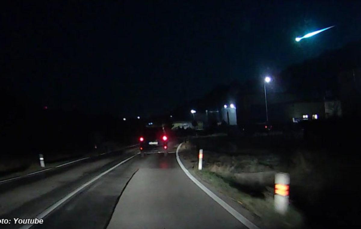 Ohnivá koule byla vidět i v Trutnově-Poříčí