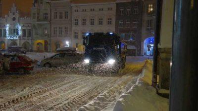 Sněhová kalamita v Trutnově a účinkování Technických služeb