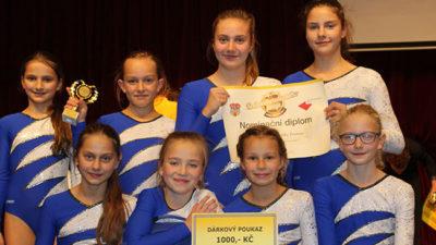 Mladé gymnastky zTrutnova ve finále soutěže  o Zlatý oříšek Královéhradeckého kraje