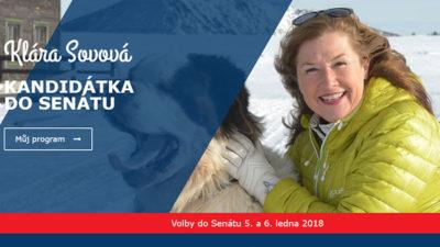 Klára Sovovová o financování své senátní kampaně zatím mlčí