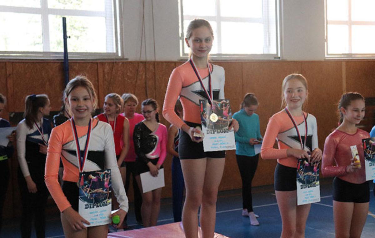Oddíl sportovní gymnastiky Spartak Trutnov pořádal krajský přebor